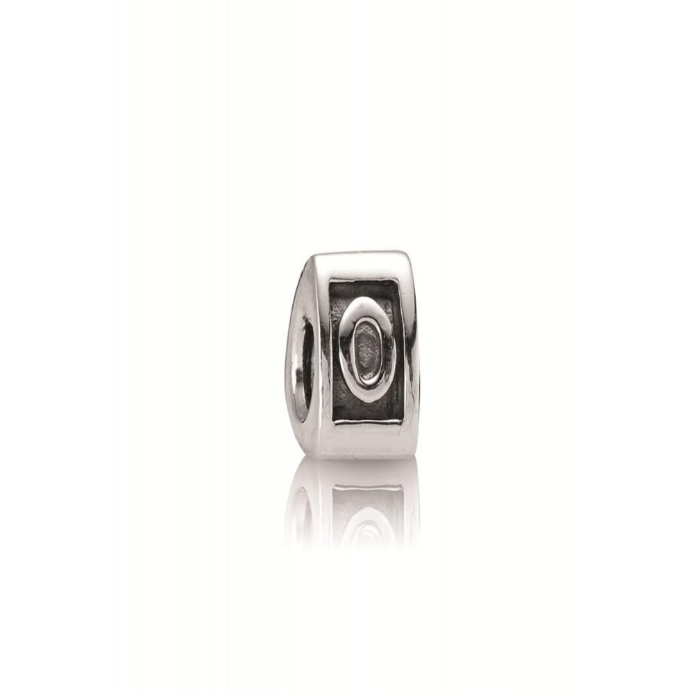 Zilveren bedel letter O 790323O