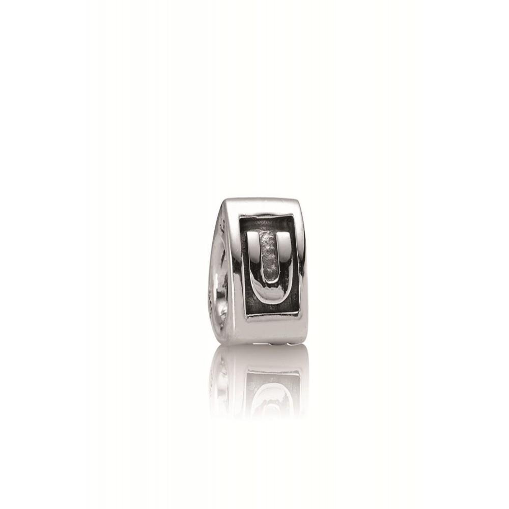 Zilveren bedel letter U 790323U