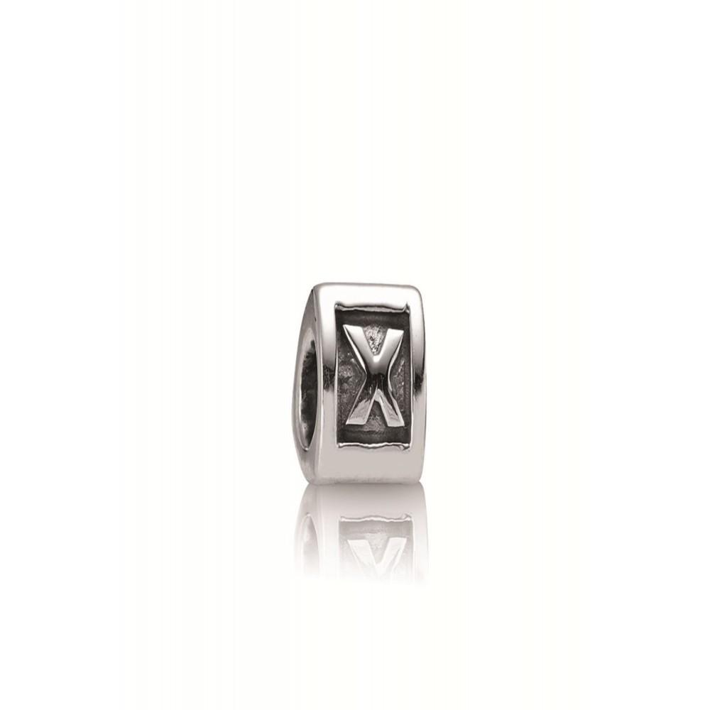 Zilveren bedel letter X 790323X