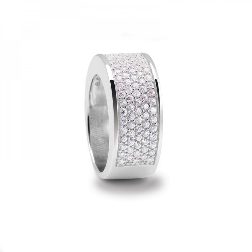 Zilveren ring met zirkonia 100019070