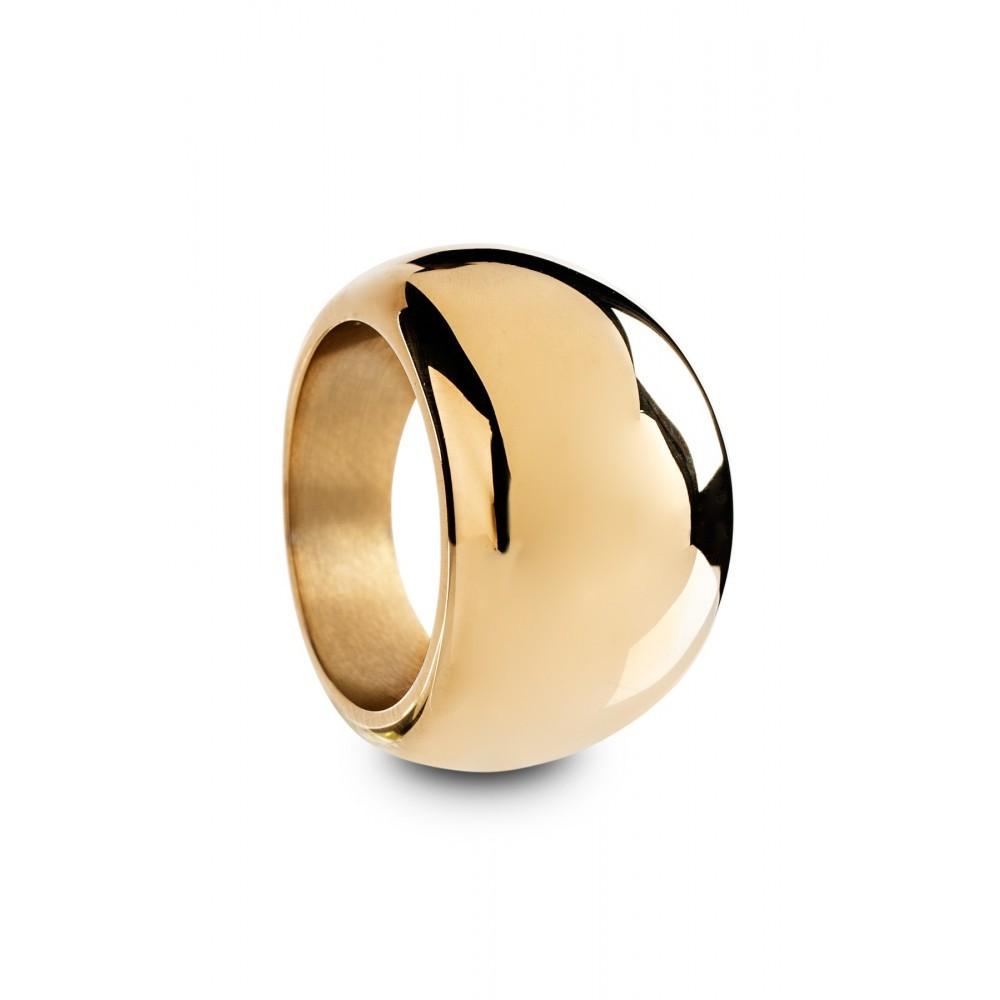 Stalen goudkleurige ring 100024432