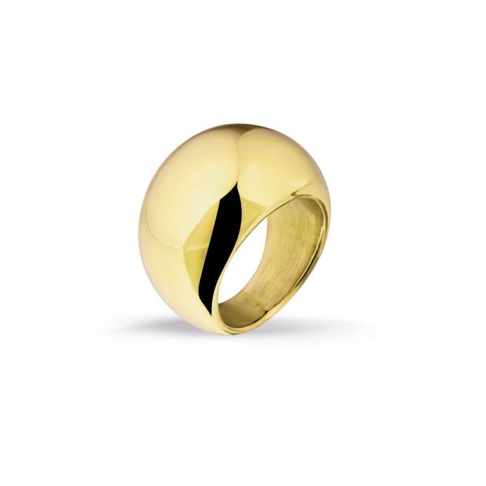 Stalen goudkleurige ring 100024433