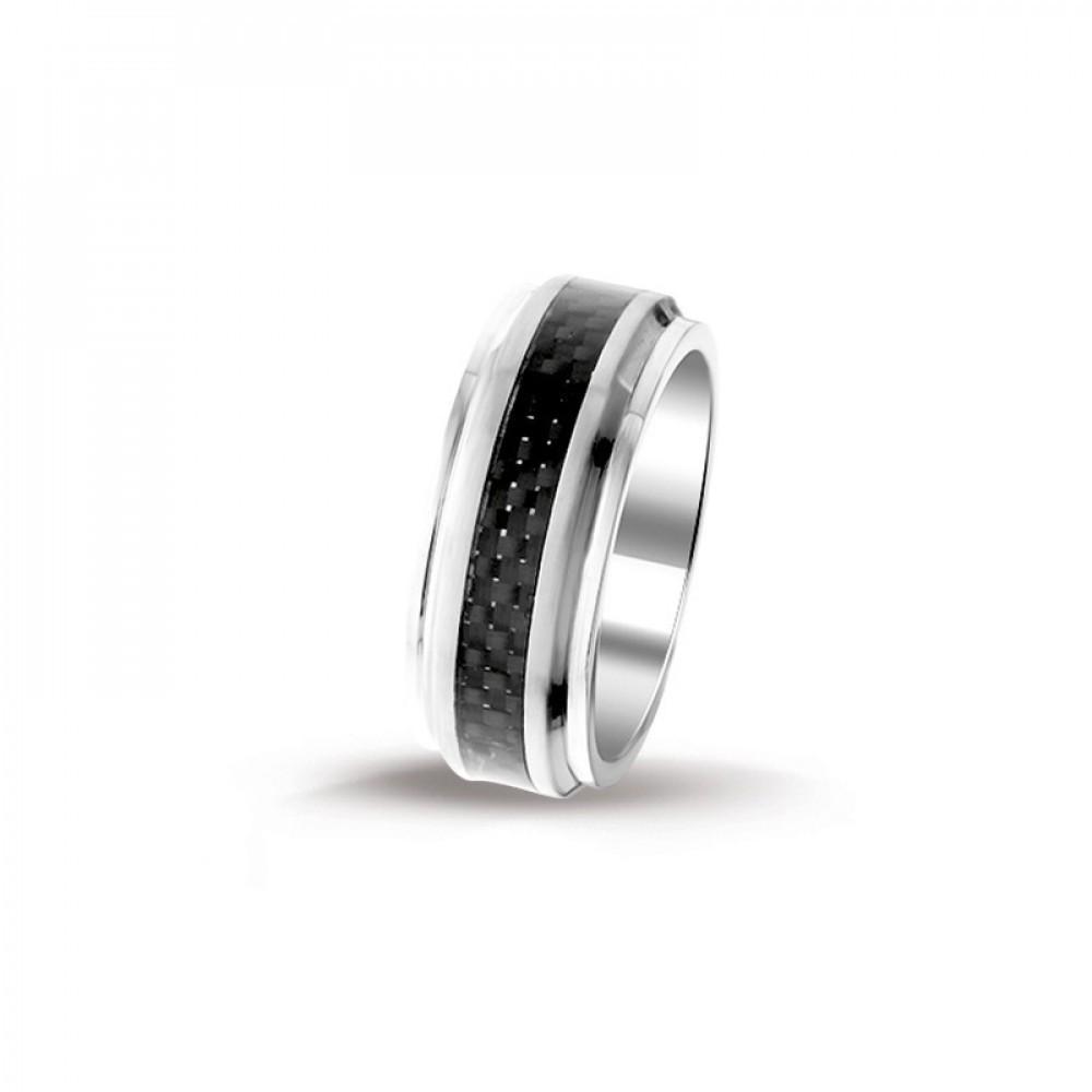 Stalen heren ring 100025229