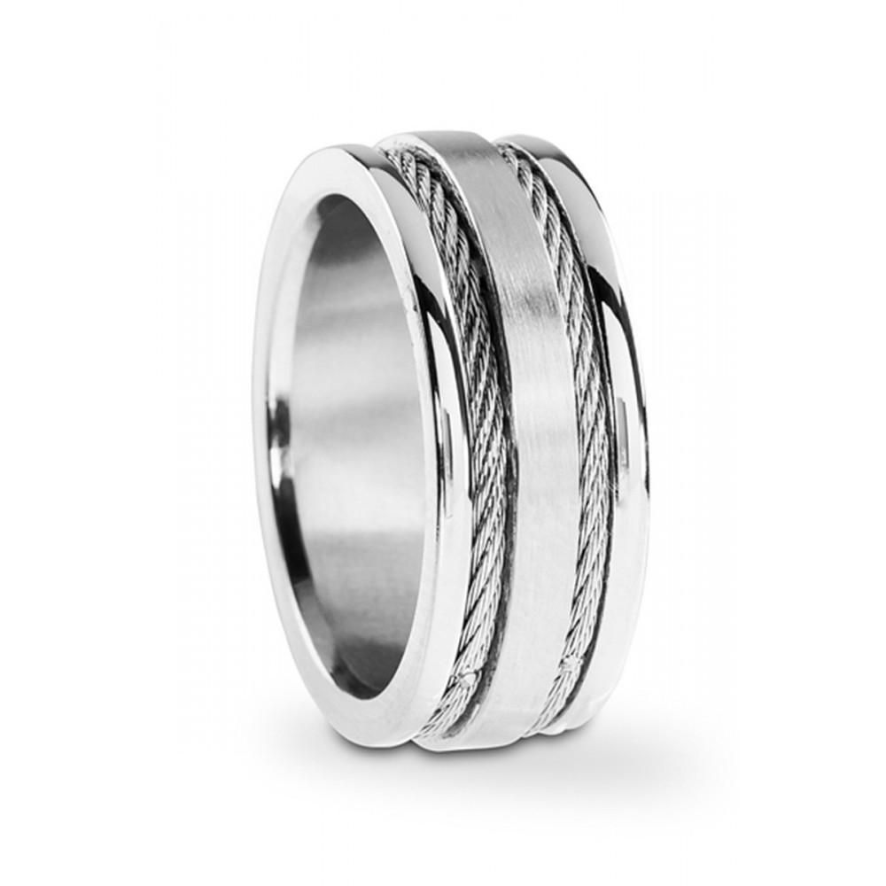 Stalen heren ring 100025230
