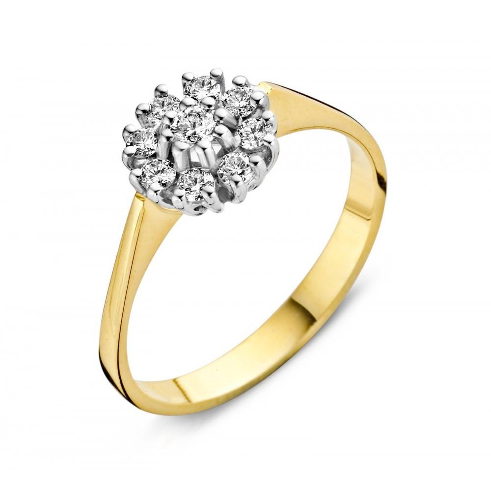 Geelgouden ring 0,55crt 707051105