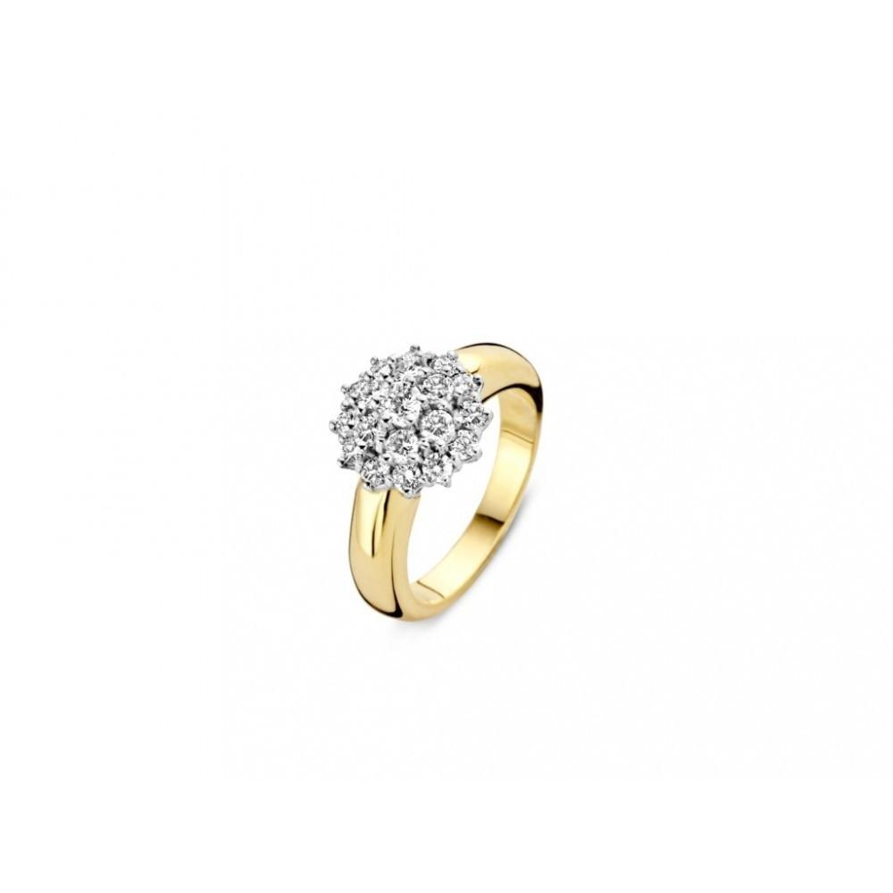 Geelgouden ring gezet met diamant 707151202