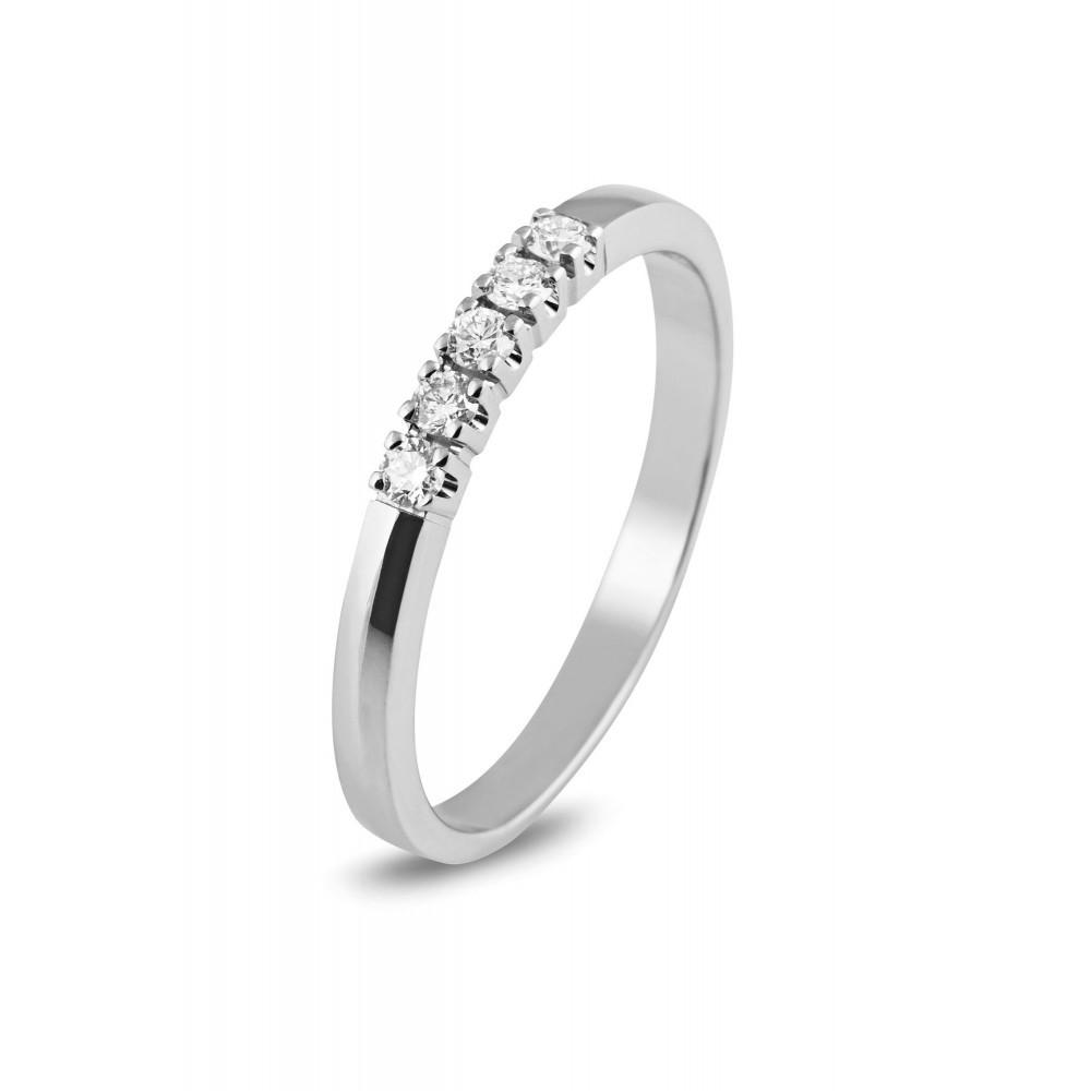 Witgouden ring 0,15crt 756110315