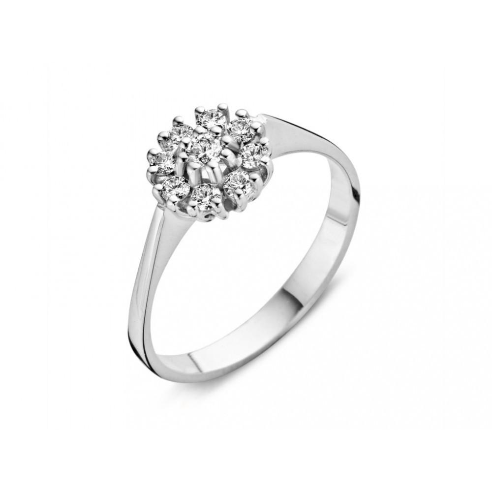 Witgouden ring 0,35crt 757051103