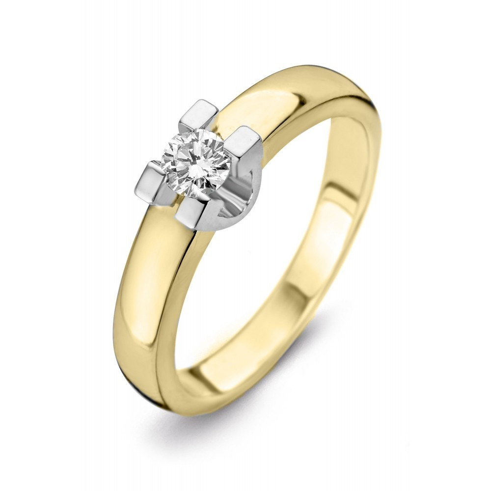 Geelgouden ring 0,09crt SOL-M722-010-G1