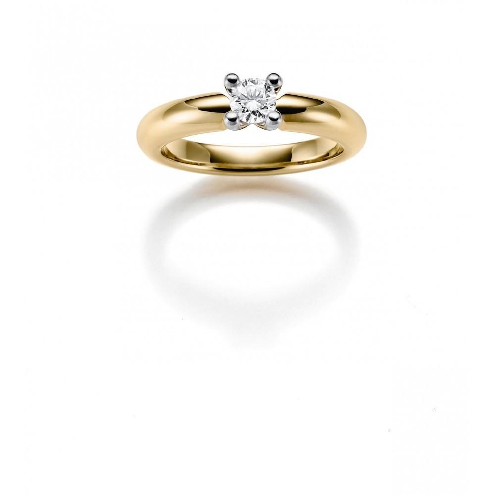 Geelgouden ring 0,16crt SOL-M723-015-G1