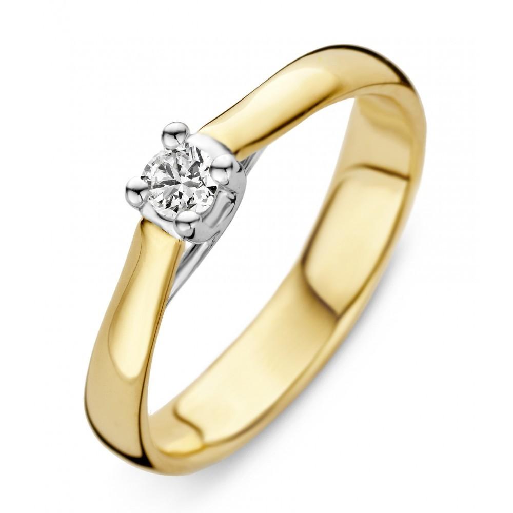 Geelgouden ring 0,17crt SOL-M725-015-G1