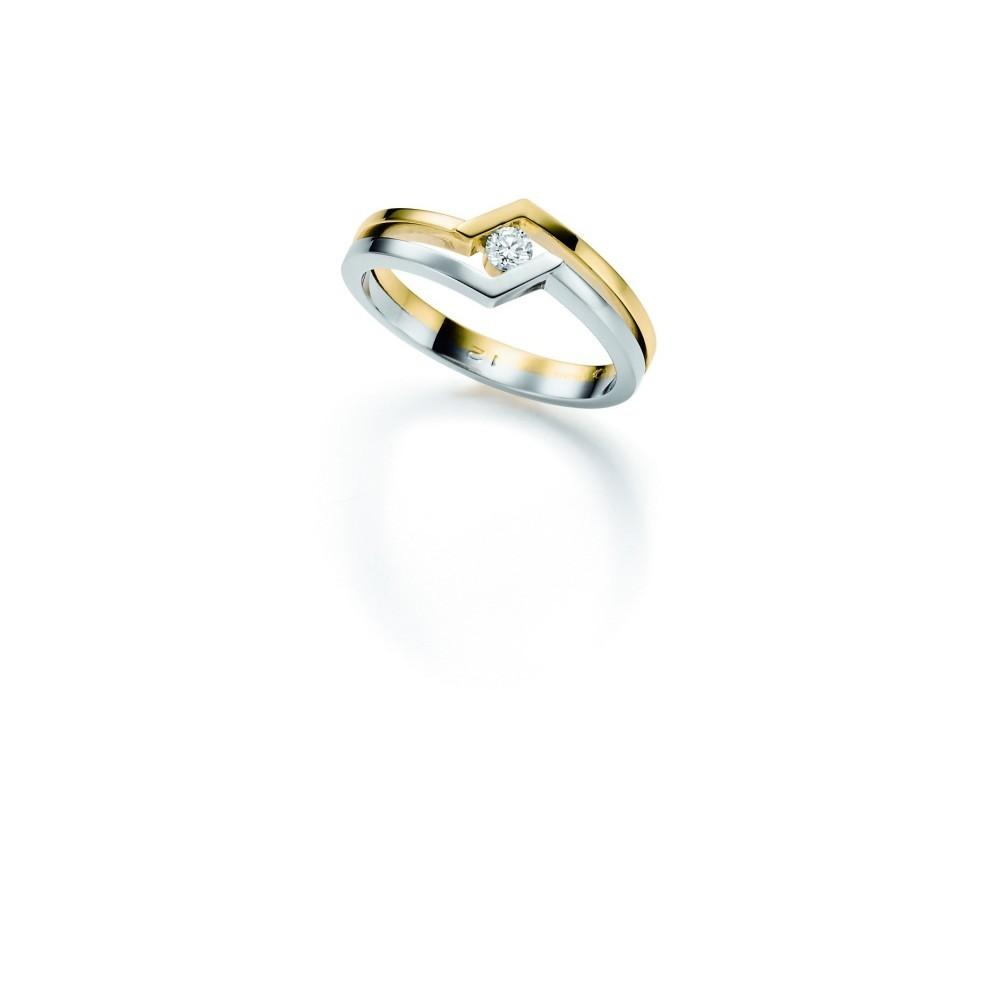 Bicolor ring 0,06crt SOL-M766-005-G1