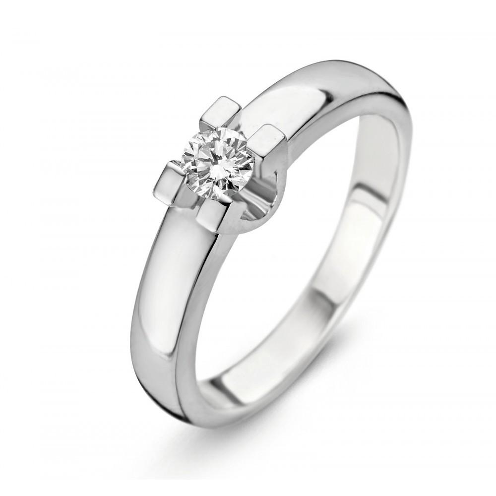 Witgouden ring met diamant SOL-W722-010-G1