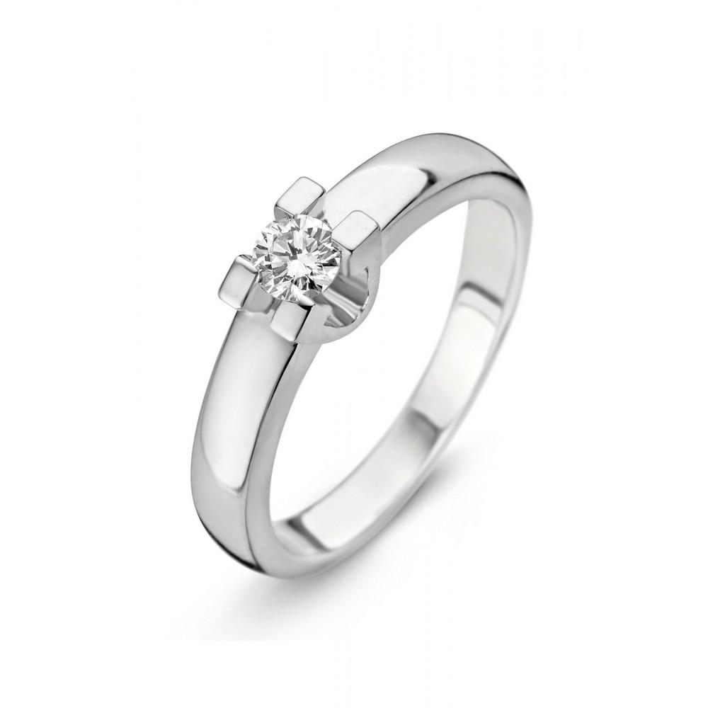 Witgouden ring met diamant SOL-W722-015-G1