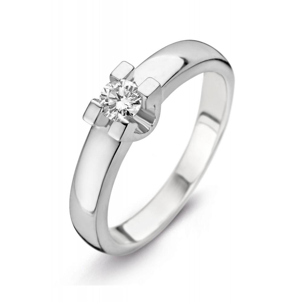 Witgouden ring met diamant SOL-W722-030-G1