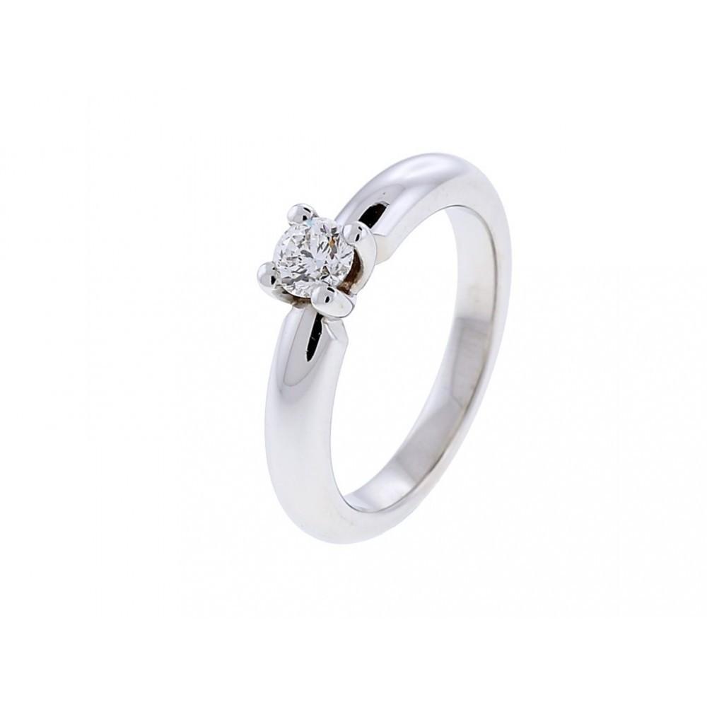 Witgouden ring met diamant SOL-W723-015-G1