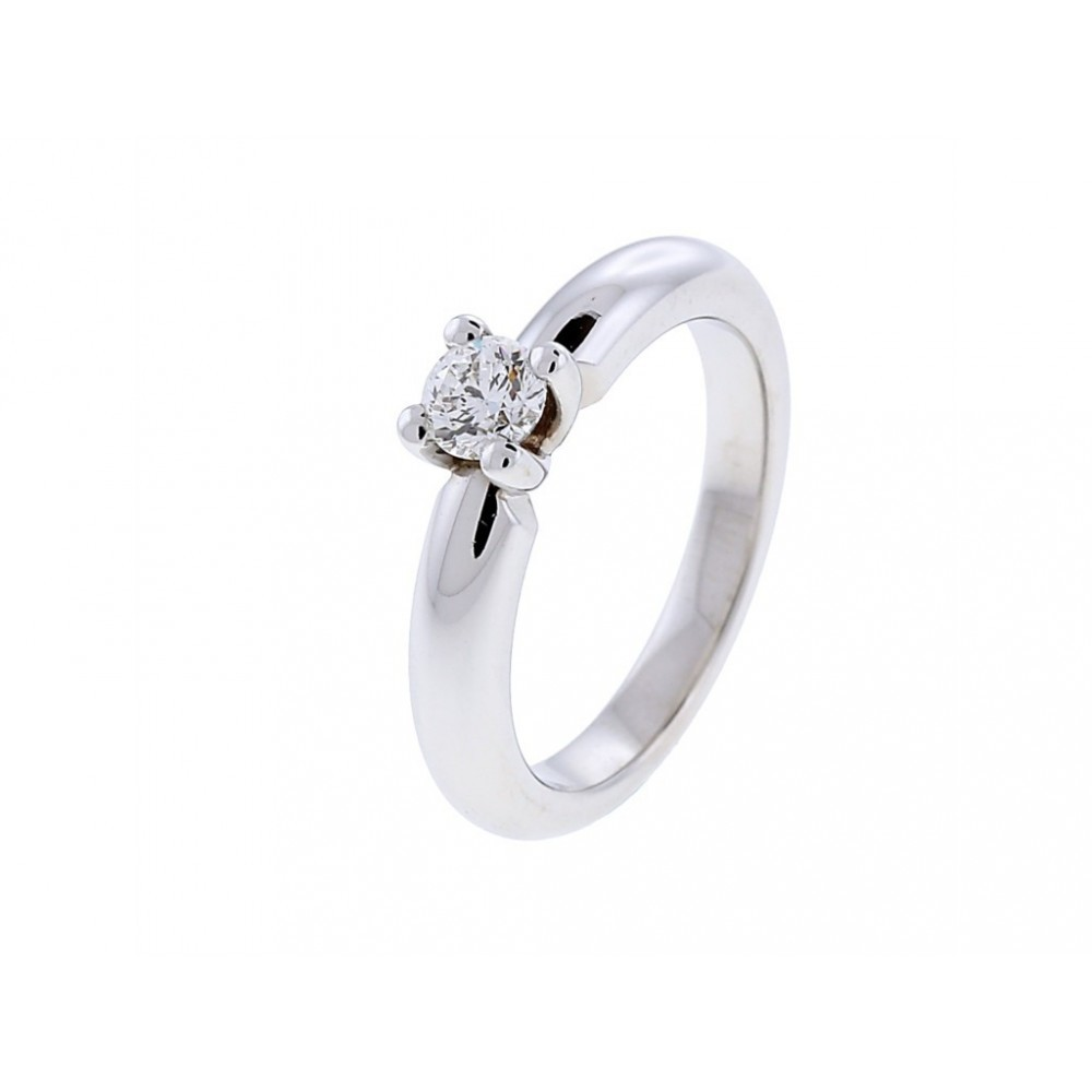 Witgouden ring met diamant SOL-W723-035-G1