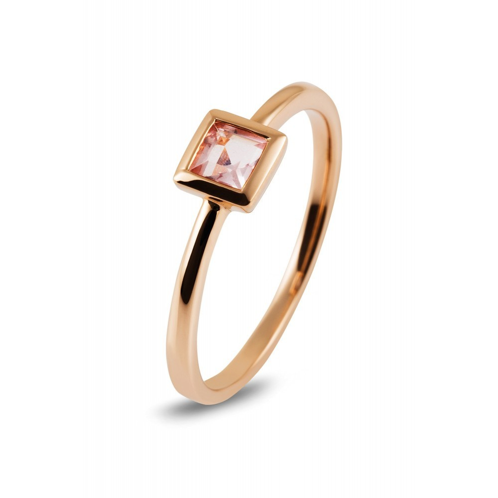 Roségouden ring met kleursteen R43739R0118
