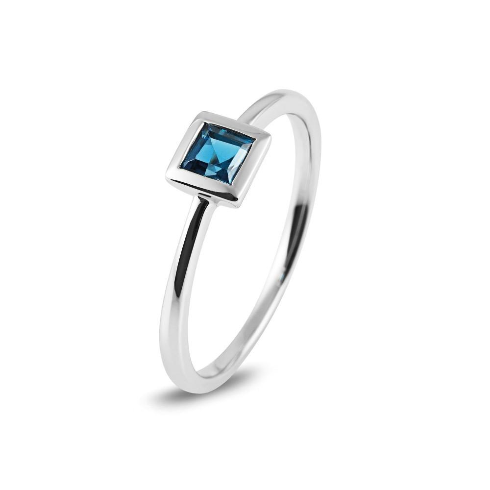 Witgouden ring met kleursteen R43739R016
