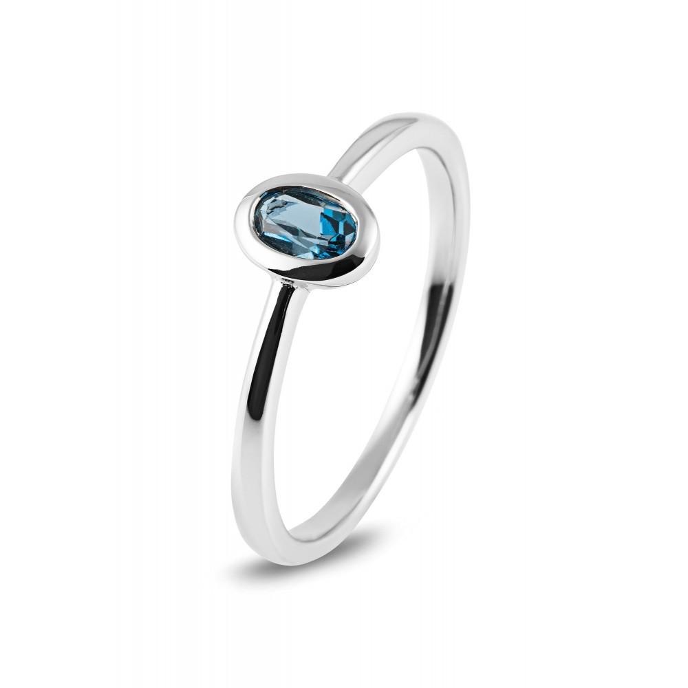 Witgouden ring met kleursteen R43741R014