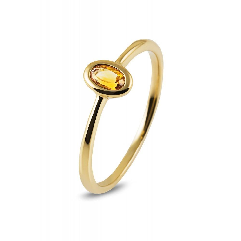 Geelgouden ring met kleursteen R43741R015