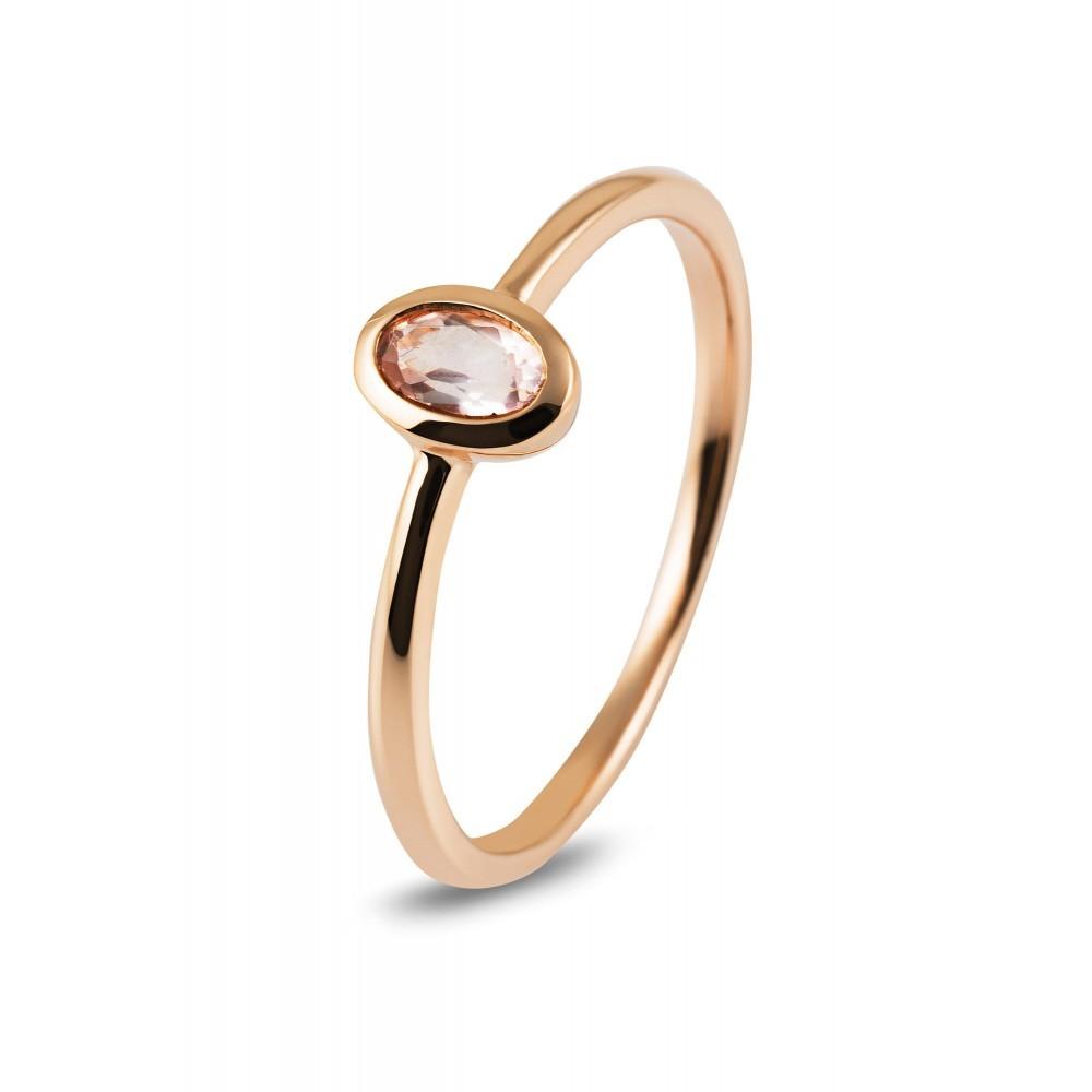 Roségouden ring met kleursteen R43741R016