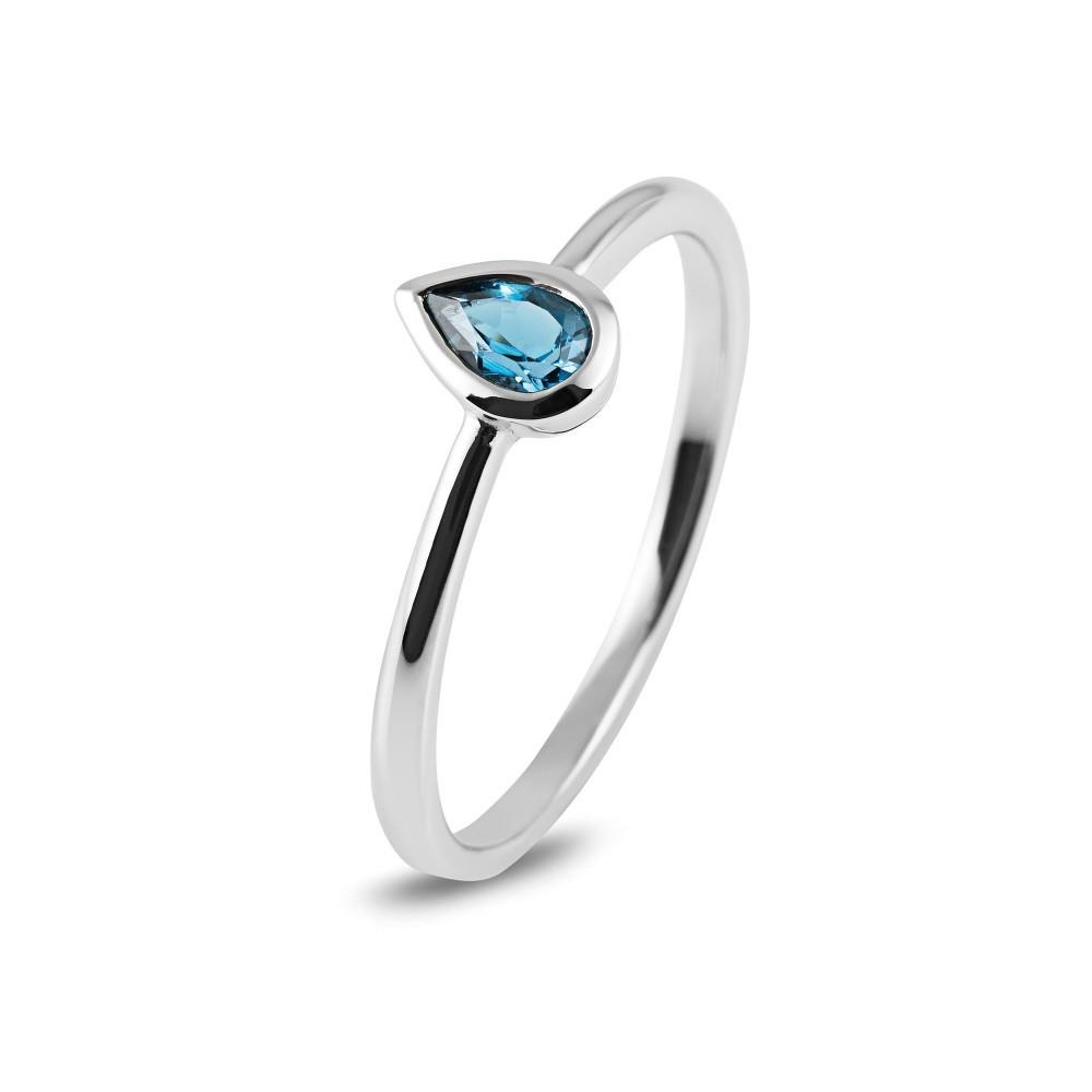 Witgouden ring met kleursteen R43742R007