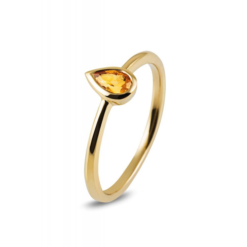 Geelgouden ring met kleursteen R43742R008