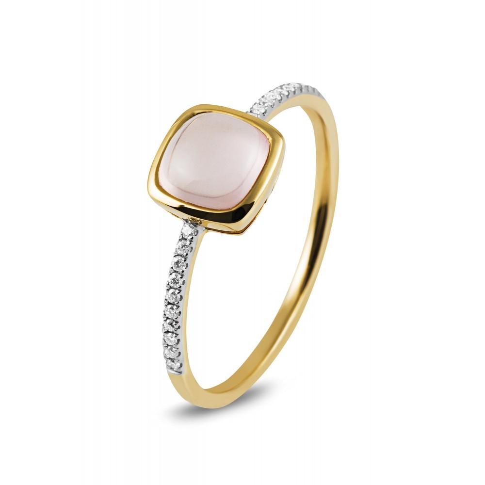 Roségouden ring met kleursteen R47061R001