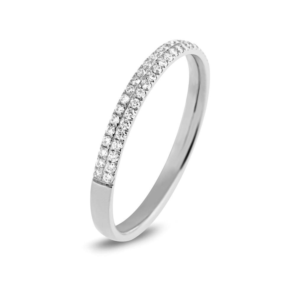 Witgouden ring 0,23crt R47177W