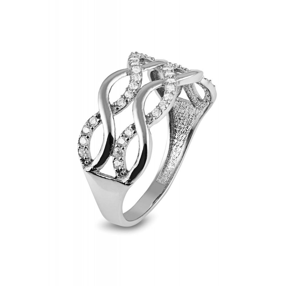 Witgouden ring met zirkonia RAZ0060