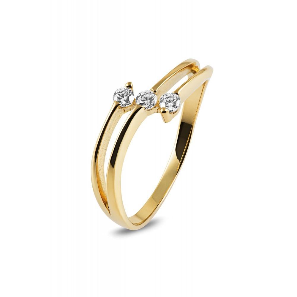 Bicolor gouden ring met zirkonia ROZ2065