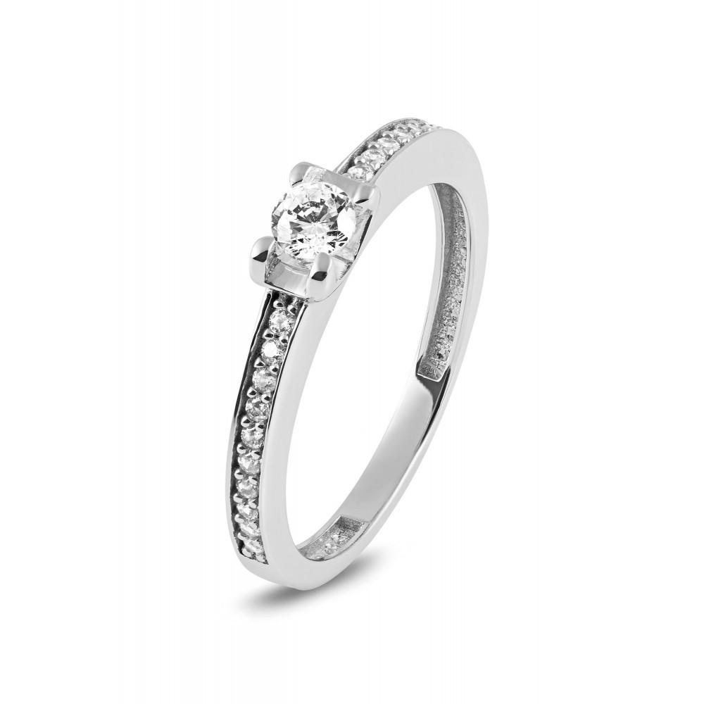 Witgouden ring met zirkonia RYD0154