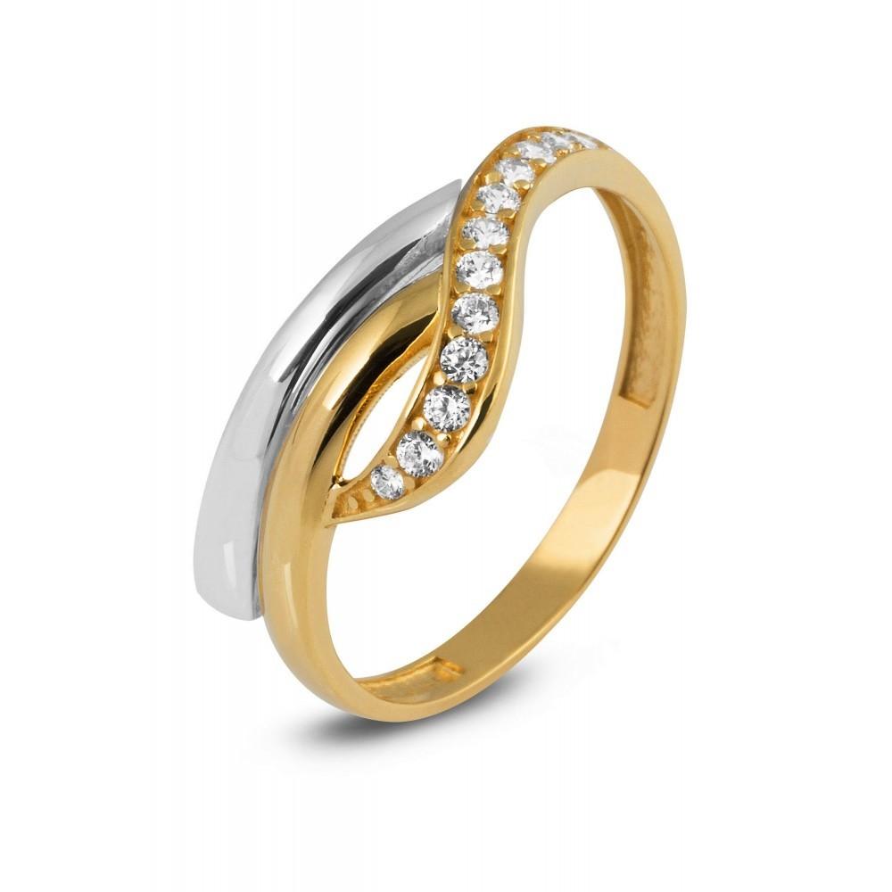 Gouden ring met zirkonia TYZ105