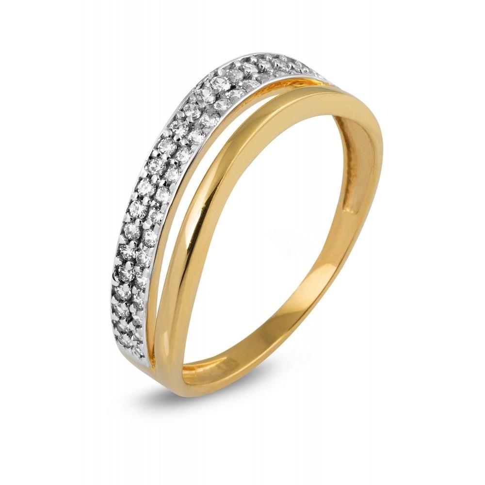 Gouden ring met zirkonia TYZ958