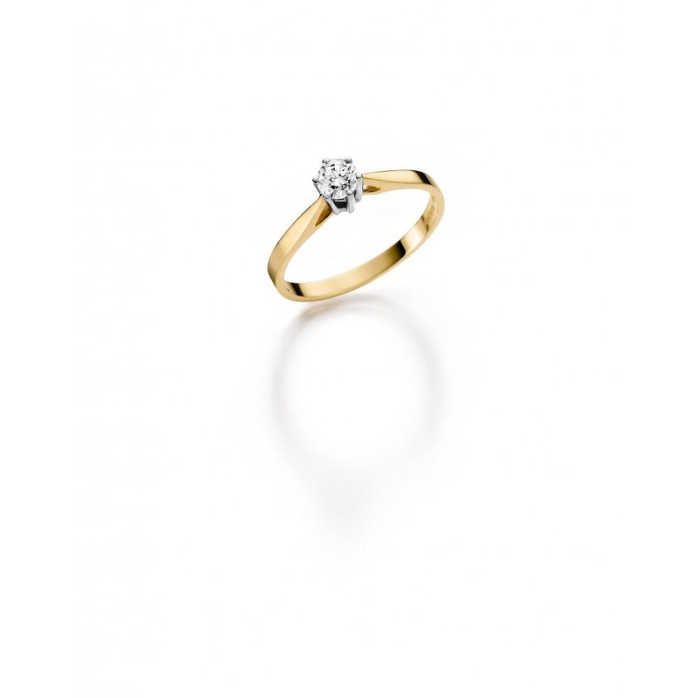 Geelgouden ring 0,08crt SOL-M720-010-G1