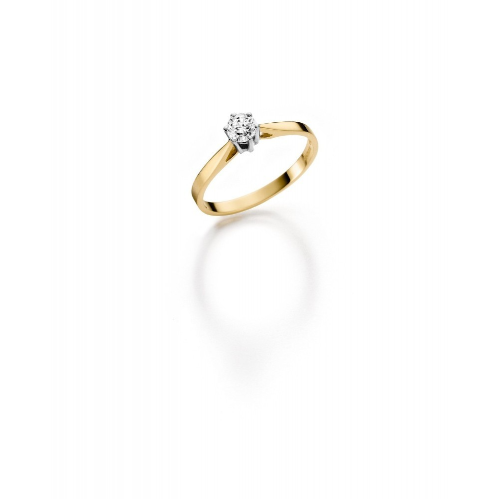 Geelgouden ring 0,14crt SOL-M720-015-G1