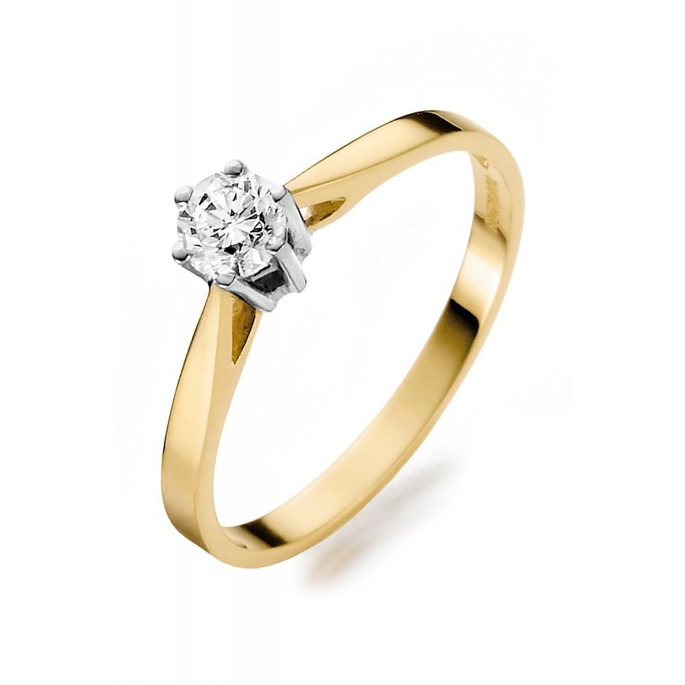 Geelgouden ring 0,24crt SOL-M720-025-G1