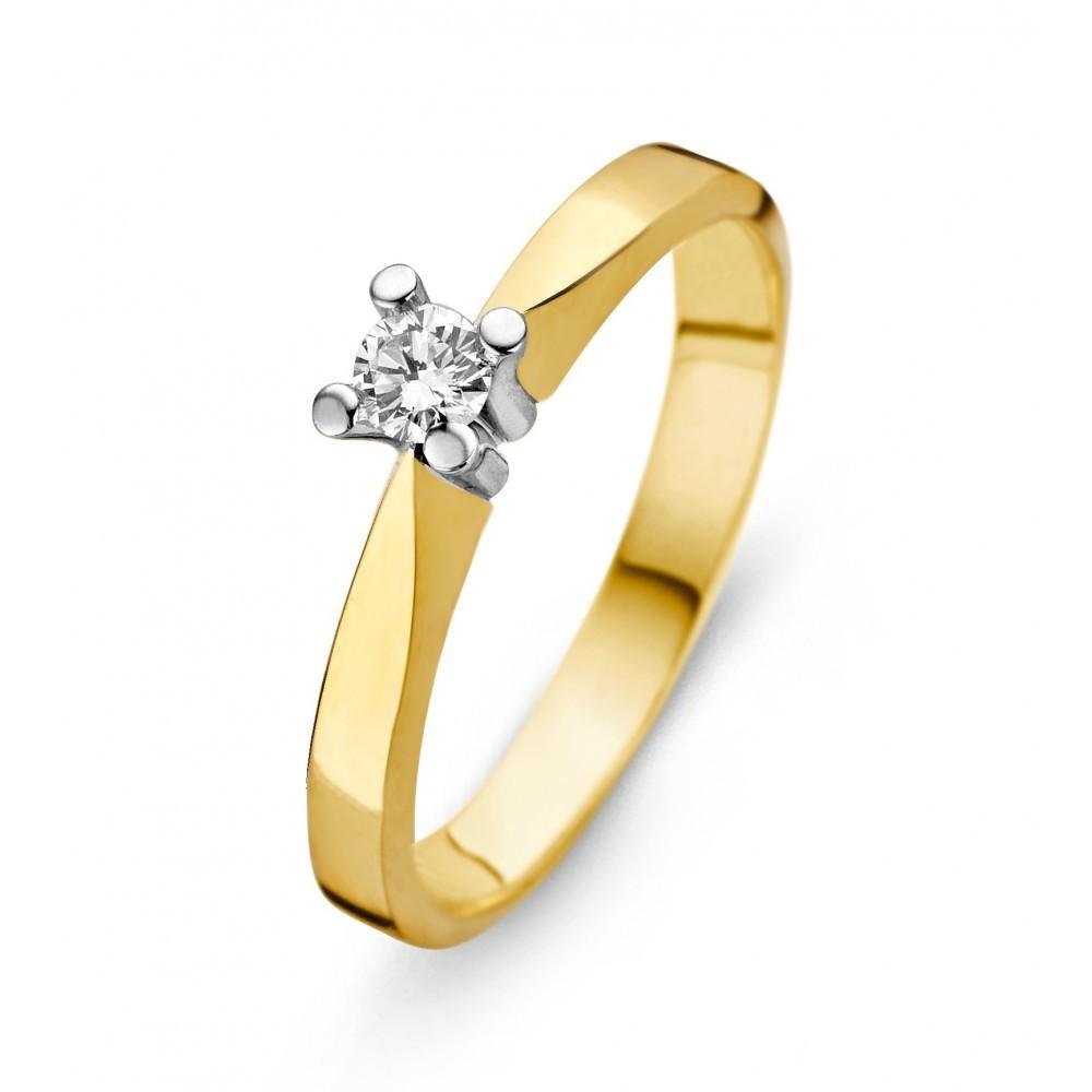 Geelgouden ring 0,03crt SOL-M724-005-G1