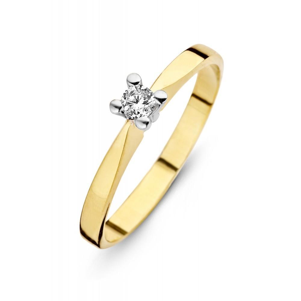 Geelgouden ring 0,34crt SOL-M724-035-G1