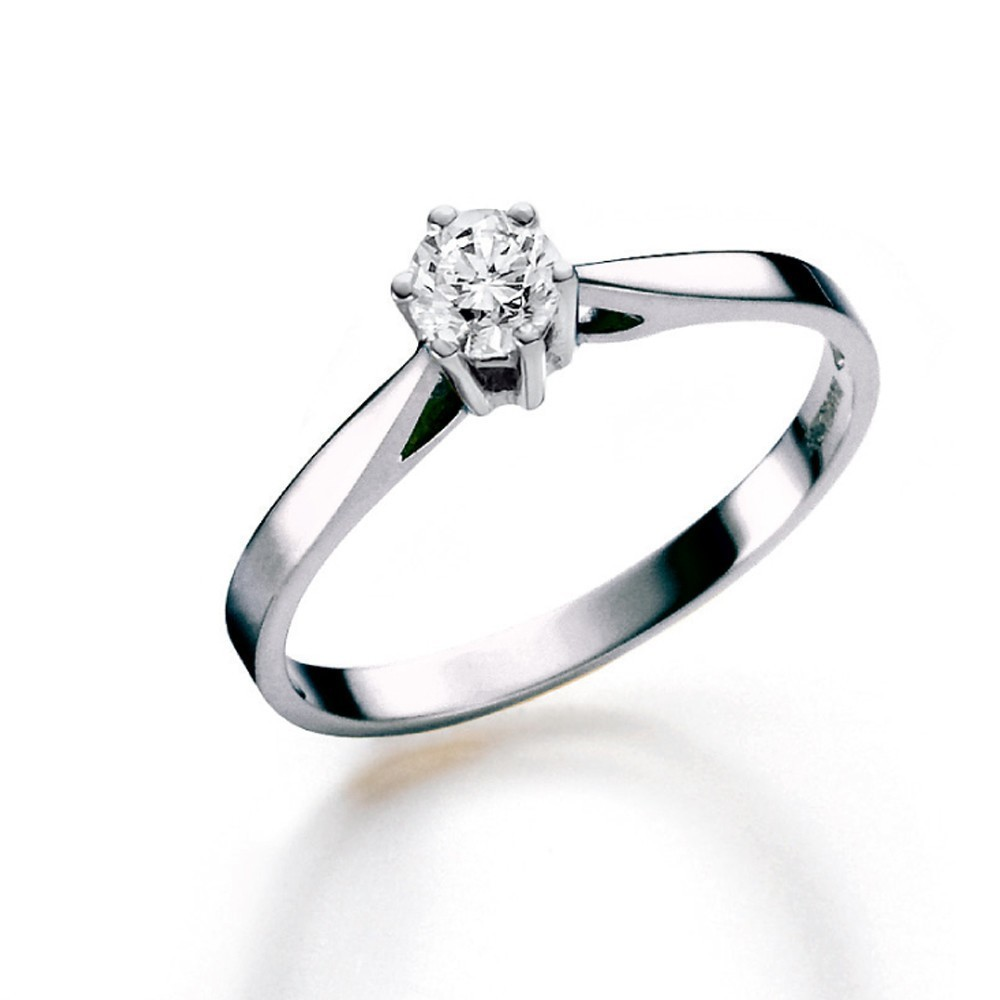 Witgouden ring met diamant SOL-W720-010-G1
