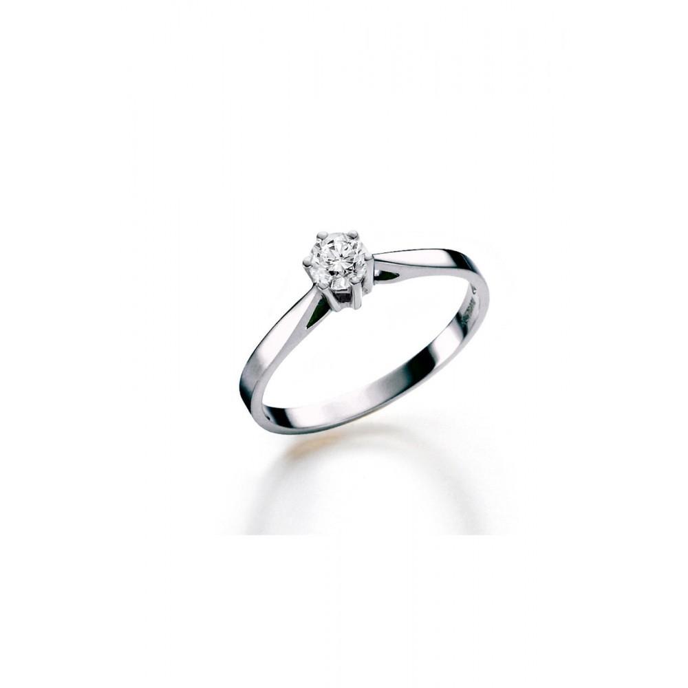 Witgouden ring met diamant SOL-W720-030-G1