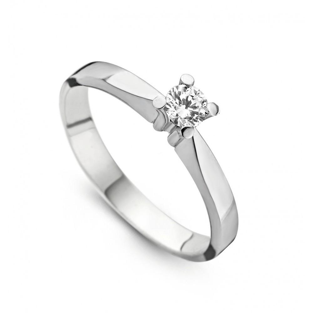 Witgouden ring met diamant SOL-W724-025-G1