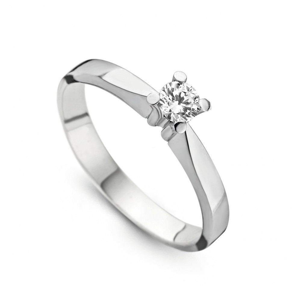 Witgouden ring met diamant SOL-W724-030-G1