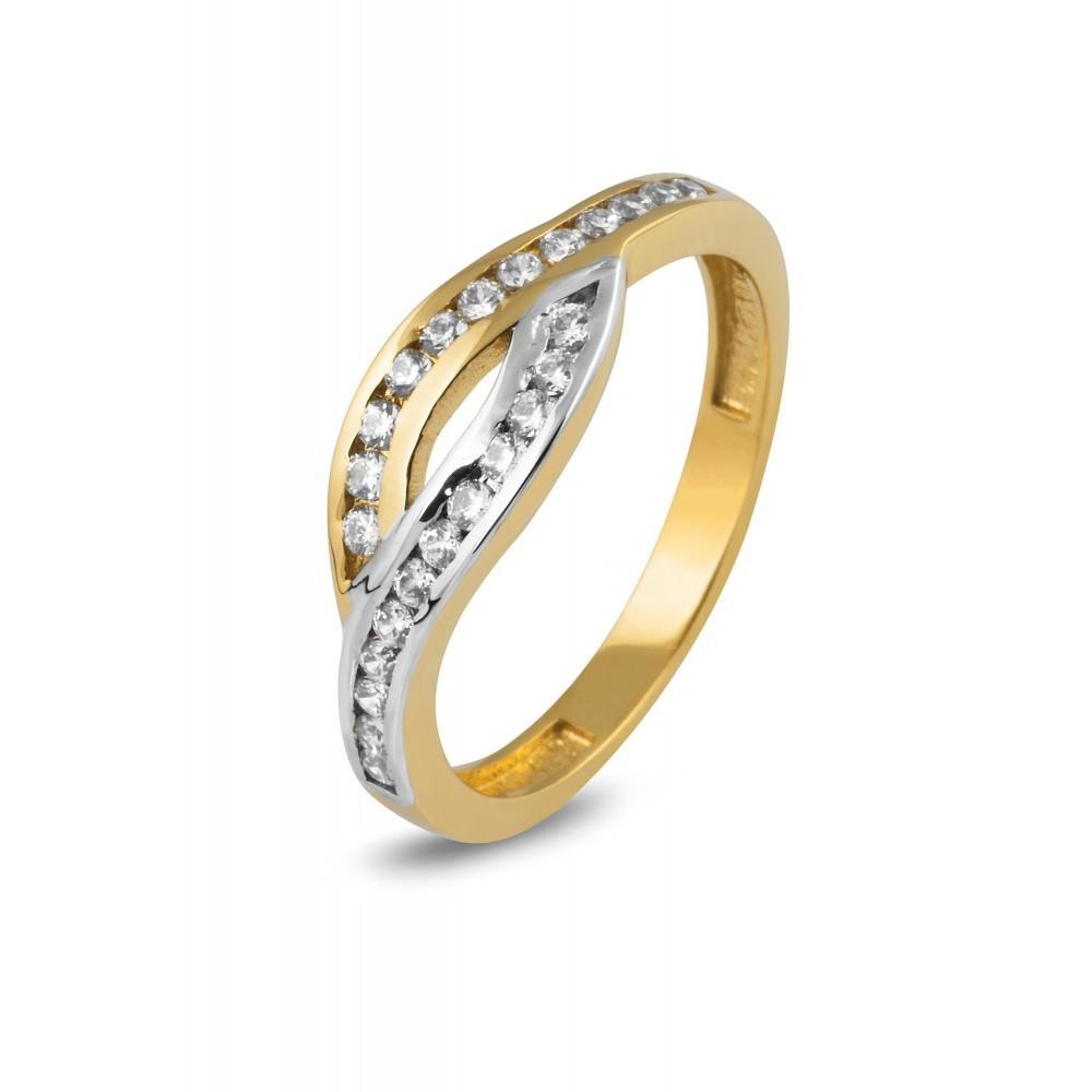 Bicolor gouden ring met zirkonia CR203505-YW-FCZ