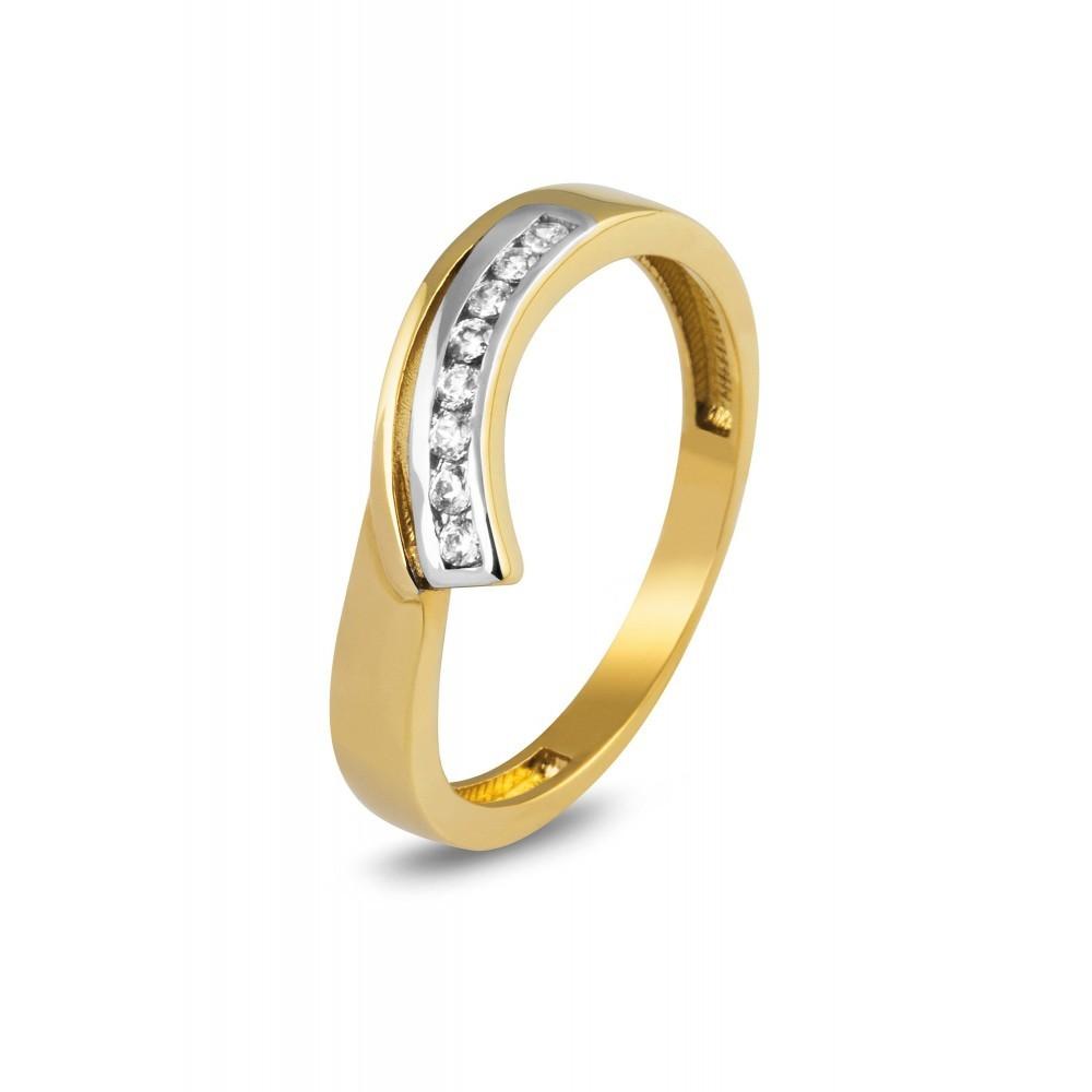 Bicolor gouden ring met zirkonia CR204482-YW-FCZ