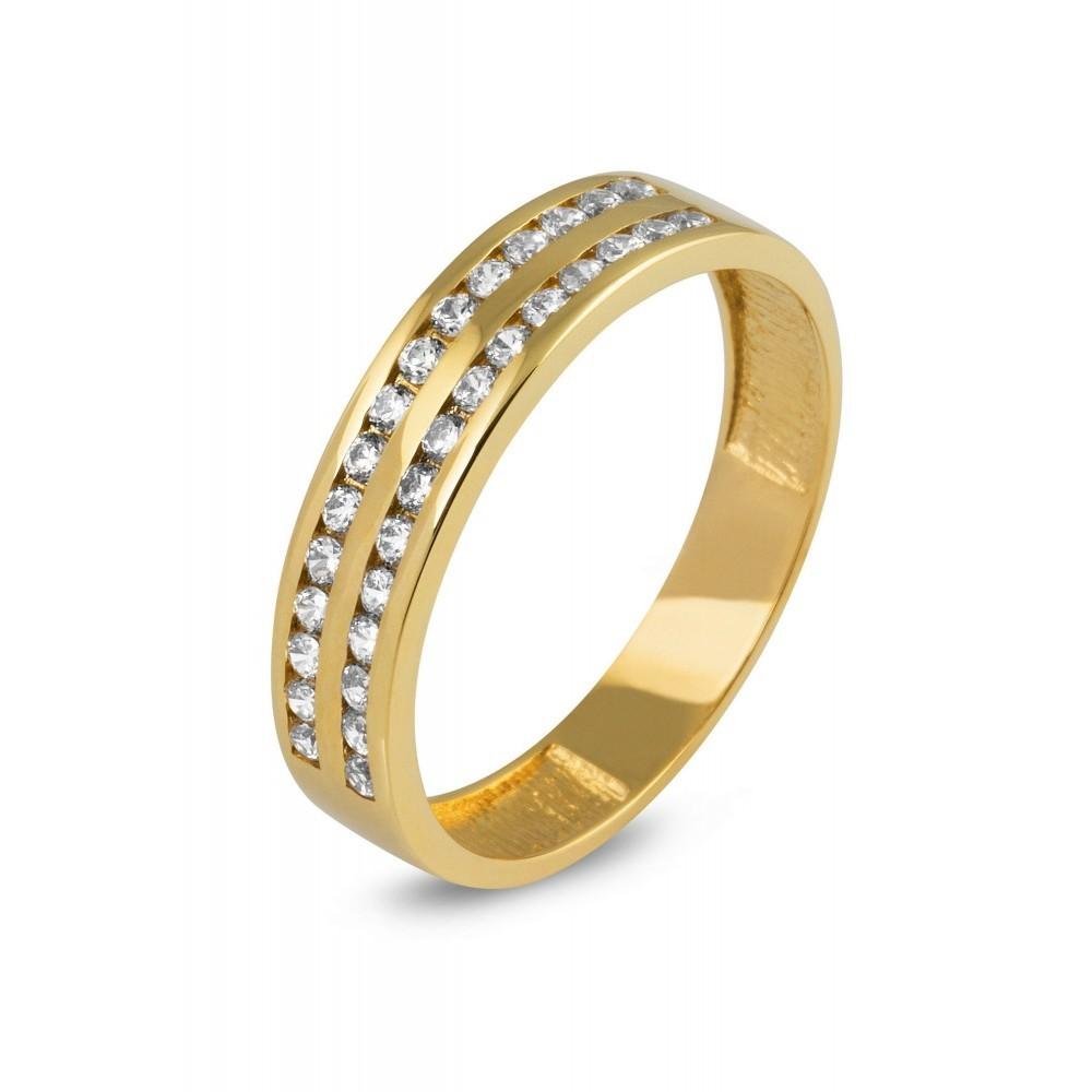 Gouden ring met zirkonia CR3495-FCZ