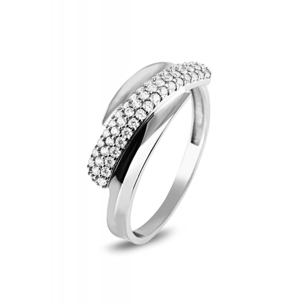 Witgouden ring met zirkonia VX7-VX7ZR0130-W