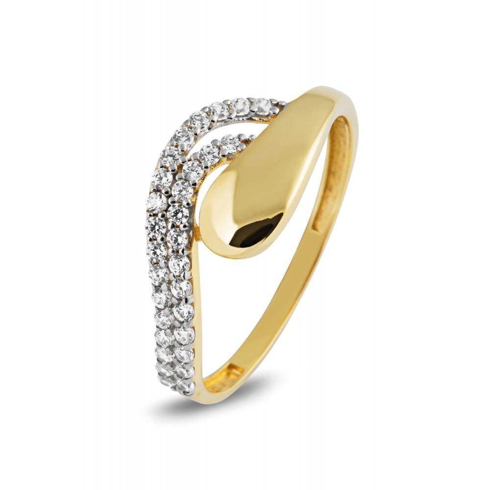 Gouden damesring met zirkonia VXXCR204899-YW