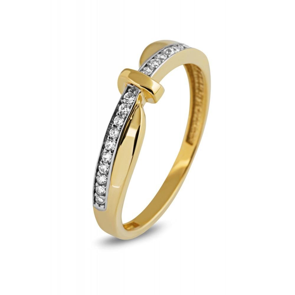 Gouden ring met zirkonia AYZ174Y